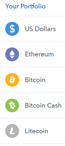 Coinbase charges monthly fees for holding cryptocurrency